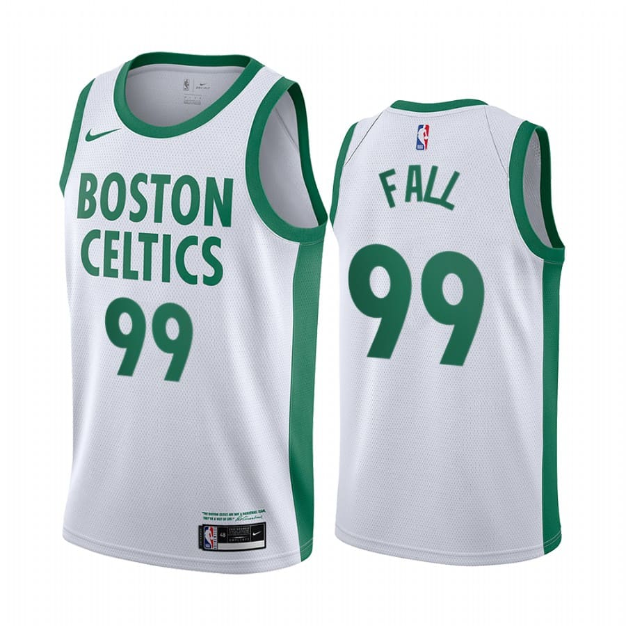 celtics tacko fall white city edition new uniform jersey