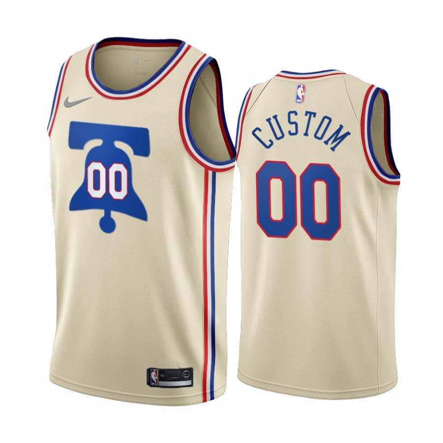 custom 76ers 2020 21 earned edition cream jersey