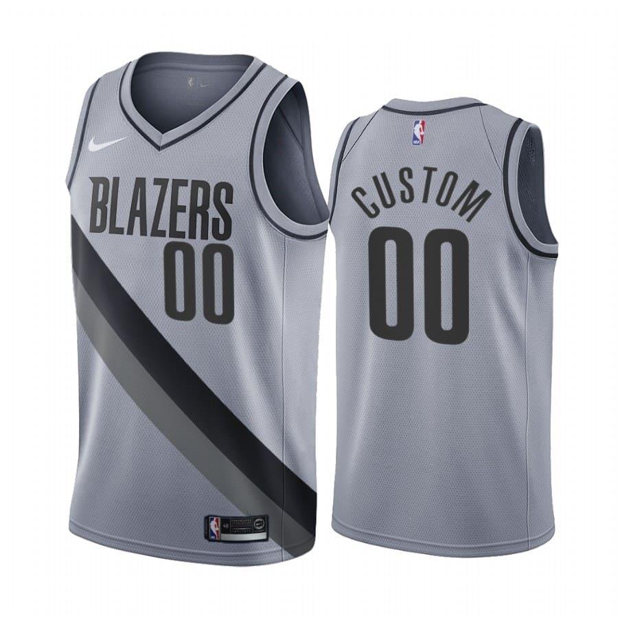 custom blazers 2020 21 earned edition gray jersey