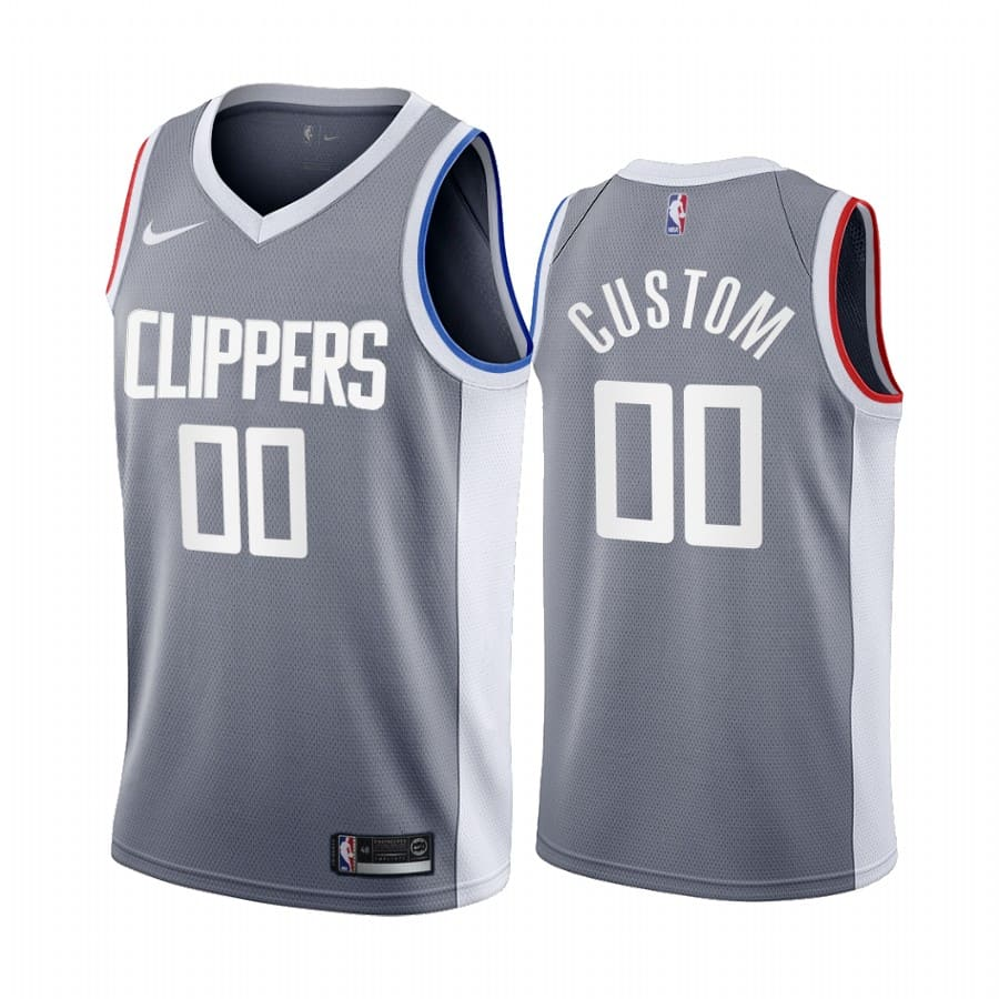 custom clippers 2020 21 earned edition gray jersey
