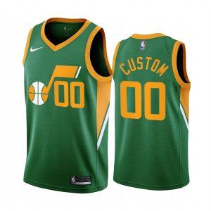 custom jazz 2020 21 earned edition green jersey