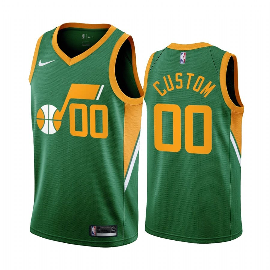 custom jazz 2020 21 earned edition green jersey