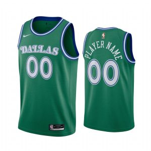 custom mavericks green 2020 classic edition original 1980 jersey 1