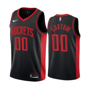 custom rockets 2020 21 earned edition black jersey