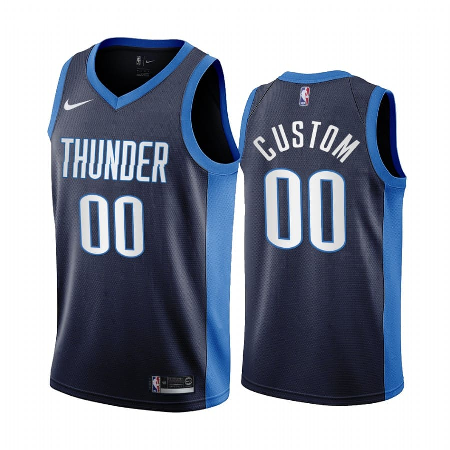 custom thunder 2020 21 earned edition navy jersey