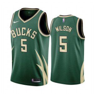 d.j. wilson bucks 2020 21 earned edition green jersey
