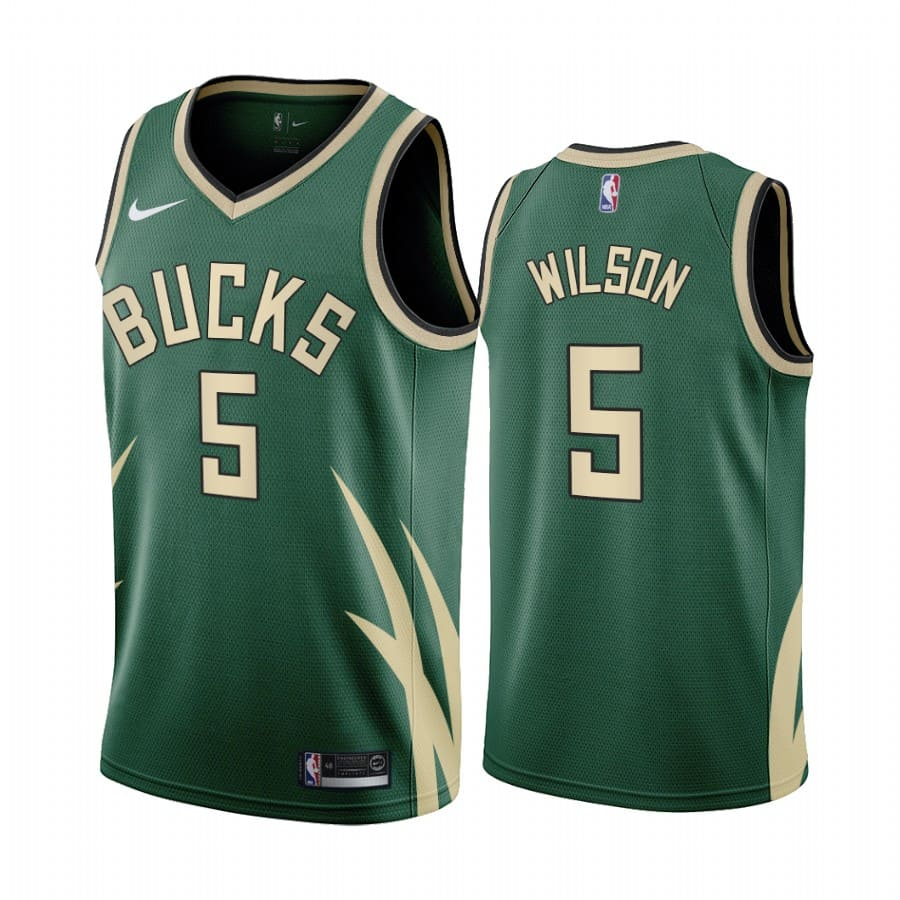 d.j. wilson bucks 2020 21 earned edition green jersey