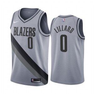 damian lillard blazers 2020 21 earned edition gray jersey