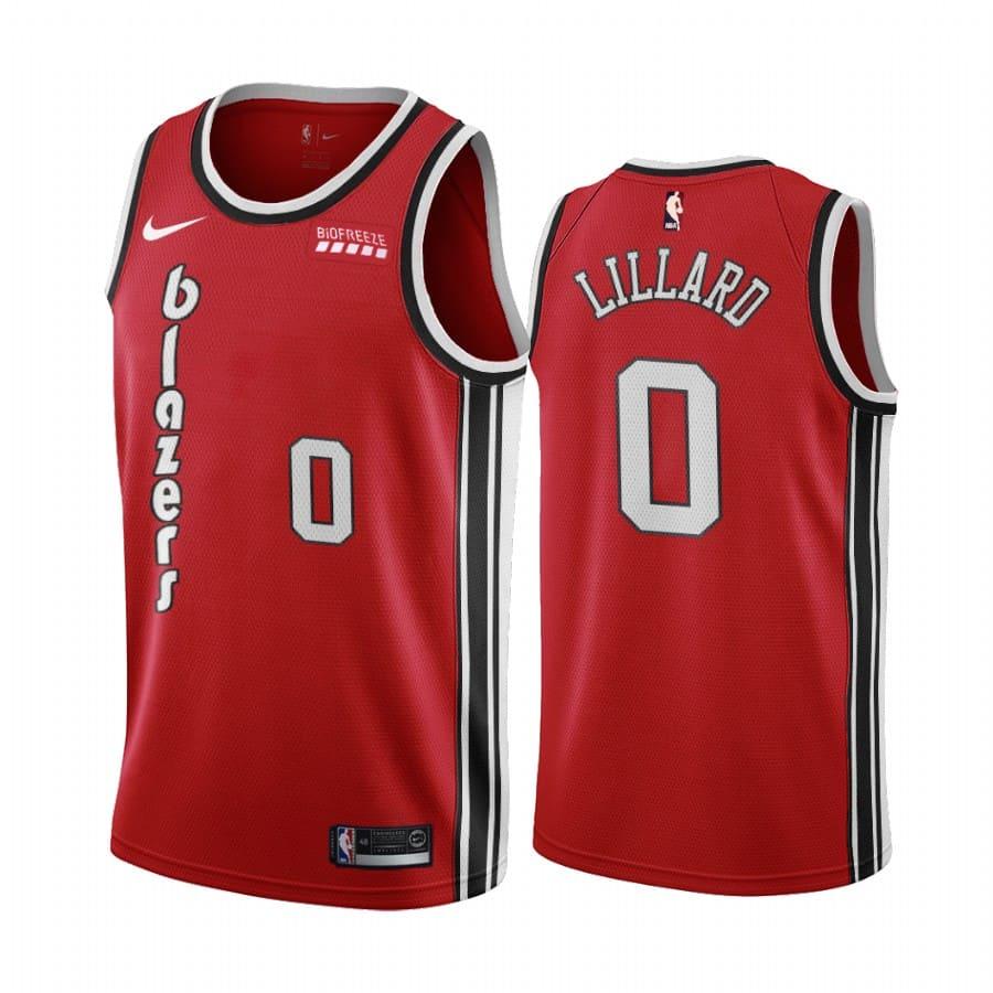 damian lillard red classic edition jersey 1