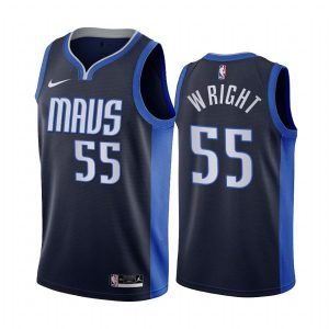 delon wright mavericks 2020 21 earned edition navy jersey
