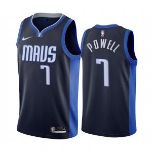 dwight powell mavericks 2020 21 earned edition navy jersey