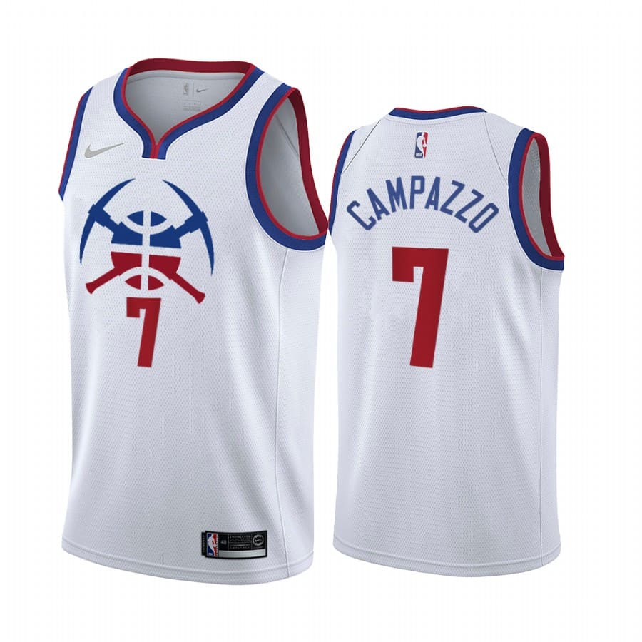 facundo campazzo nuggets 2020 21 earned edition white jersey