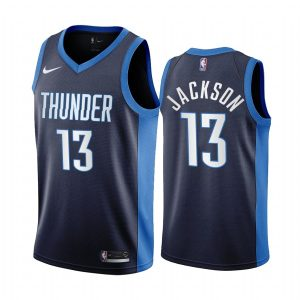 frank jackson thunder 2020 21 earned edition navy jersey