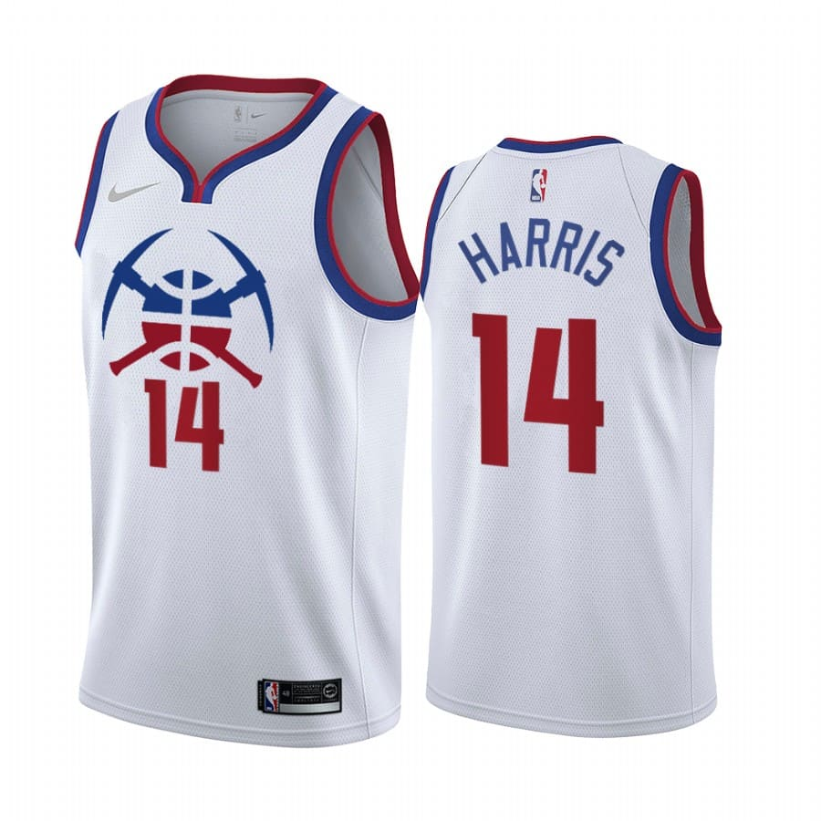 gary harris nuggets 2020 21 earned edition white jersey