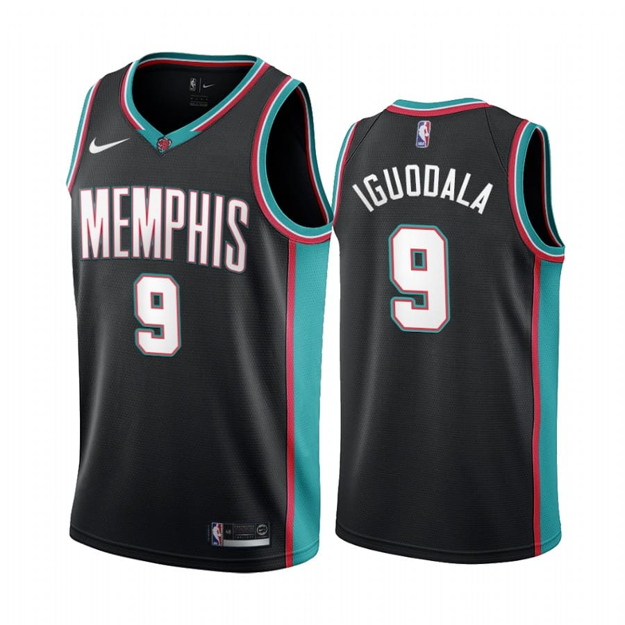 grizzlies andre iguodala black 20th season classic jersey 1