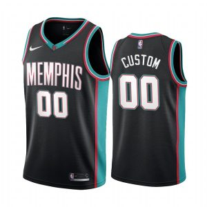 grizzlies custom black 20th season classic jersey 1