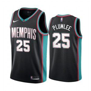 grizzlies miles plumlee black 20th season classic jersey 1