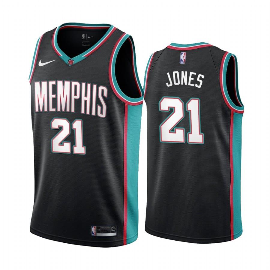 grizzlies tyus jones black 20th season classic jersey 1