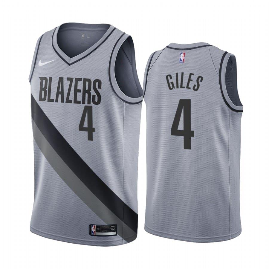 harry giles blazers 2020 21 earned edition gray jersey