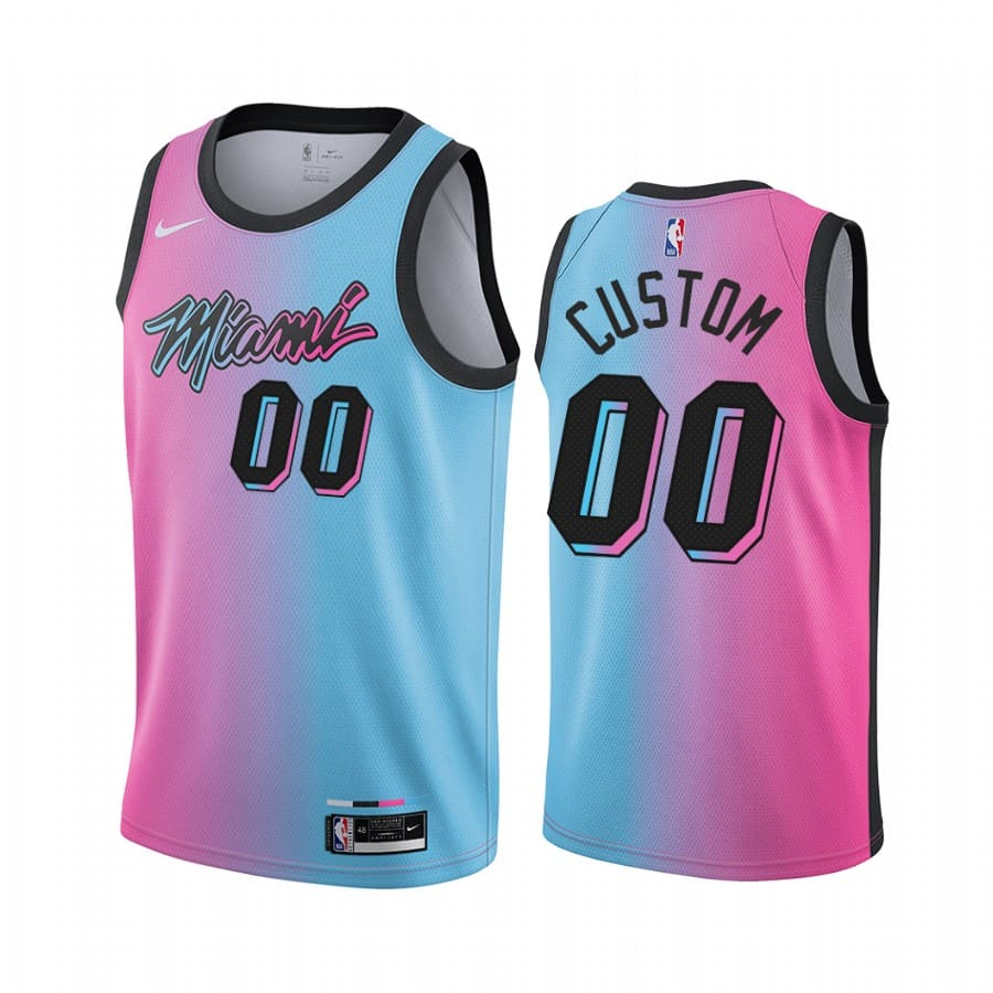 heat custom blue pick city edition vice jersey 1