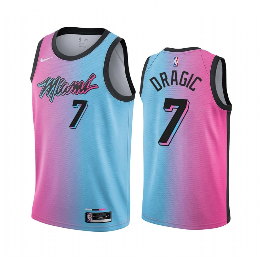 heat goran dragic blue pink city rainbow jersey 1