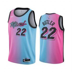 heat jimmy butler blue pick city edition vice jersey 1