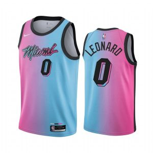 heat meyers leonard blue pink city rainbow jersey 1