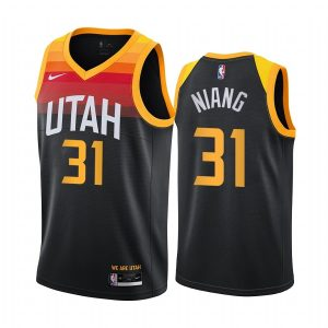 jazz georges niang black city new uniform jersey 1