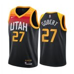 jazz rudy gobert black city new uniform jersey 1
