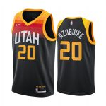 jazz udoka azubuike black city 2020 nba draft jersey 1