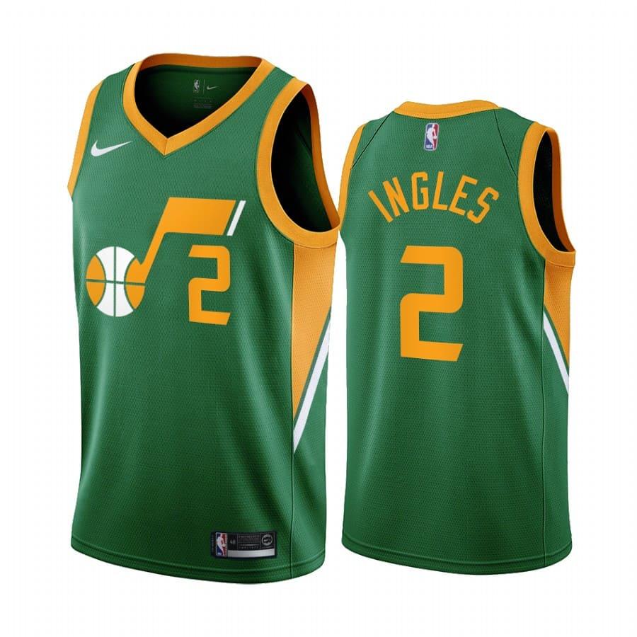 joe ingles jazz 2020 21 earned edition green jersey