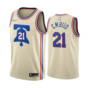 joel embiid 76ers 2020 21 earned edition cream jersey