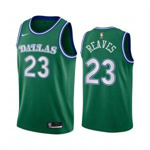 josh reaves mavericks green 2020 classic edition original 1980 jersey