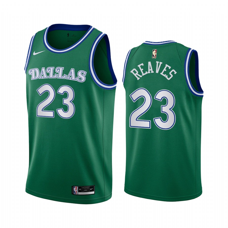 josh reaves mavericks green 2020 classic edition original 1980 jersey