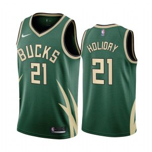 jrue holiday bucks 2020 21 earned edition green jersey