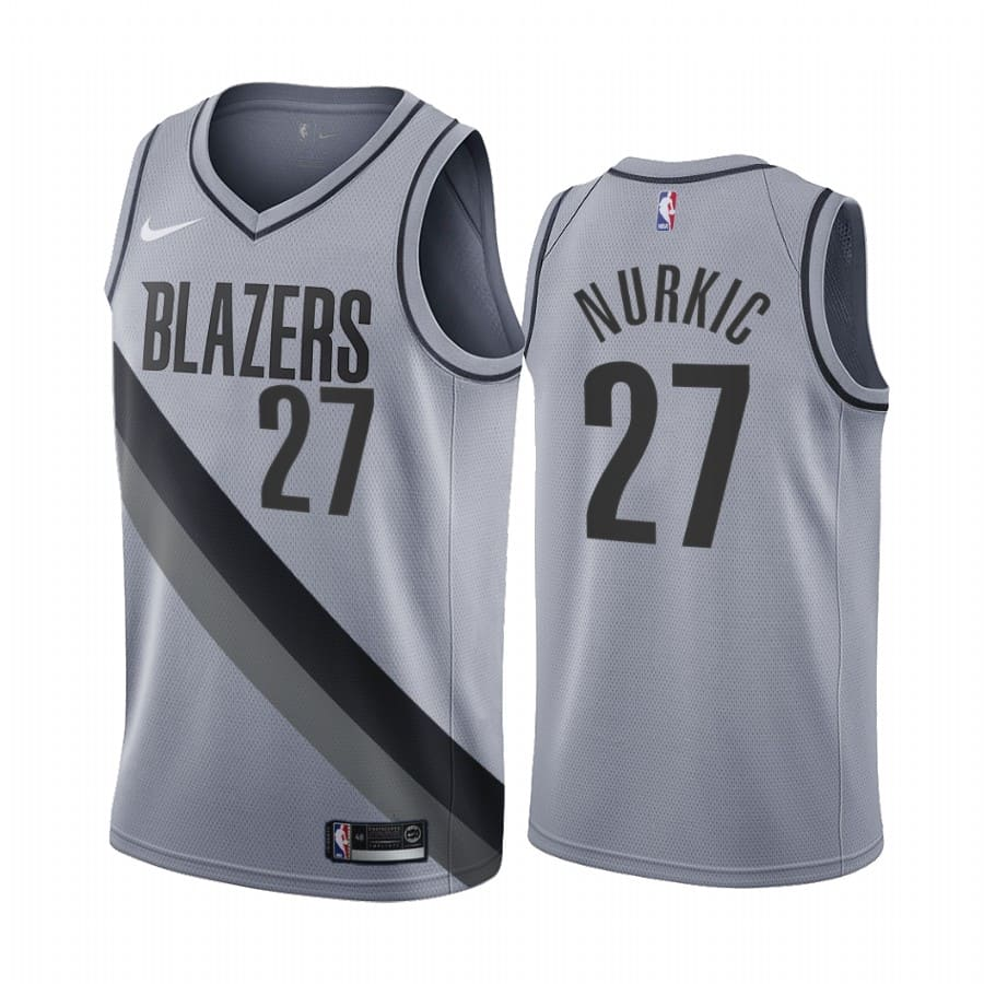 jusuf nurkic blazers 2020 21 earned edition gray jersey