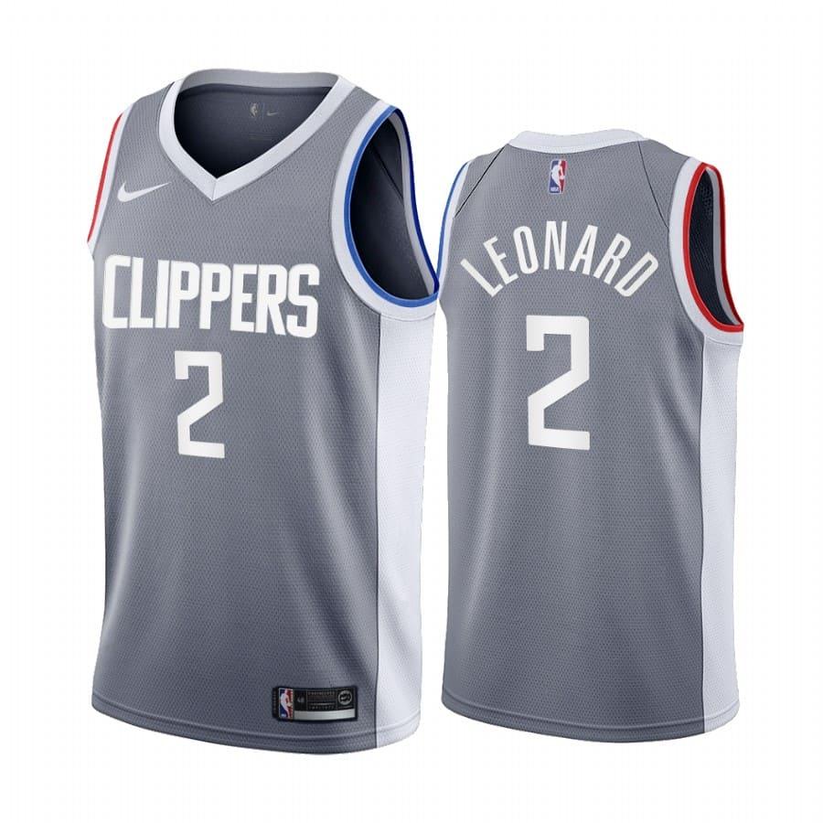 kawhi leonard clippers 2020 21 earned edition gray jersey