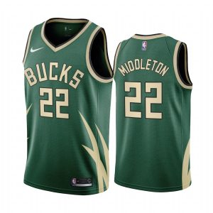 khris middleton bucks 2020 21 earned edition green jersey