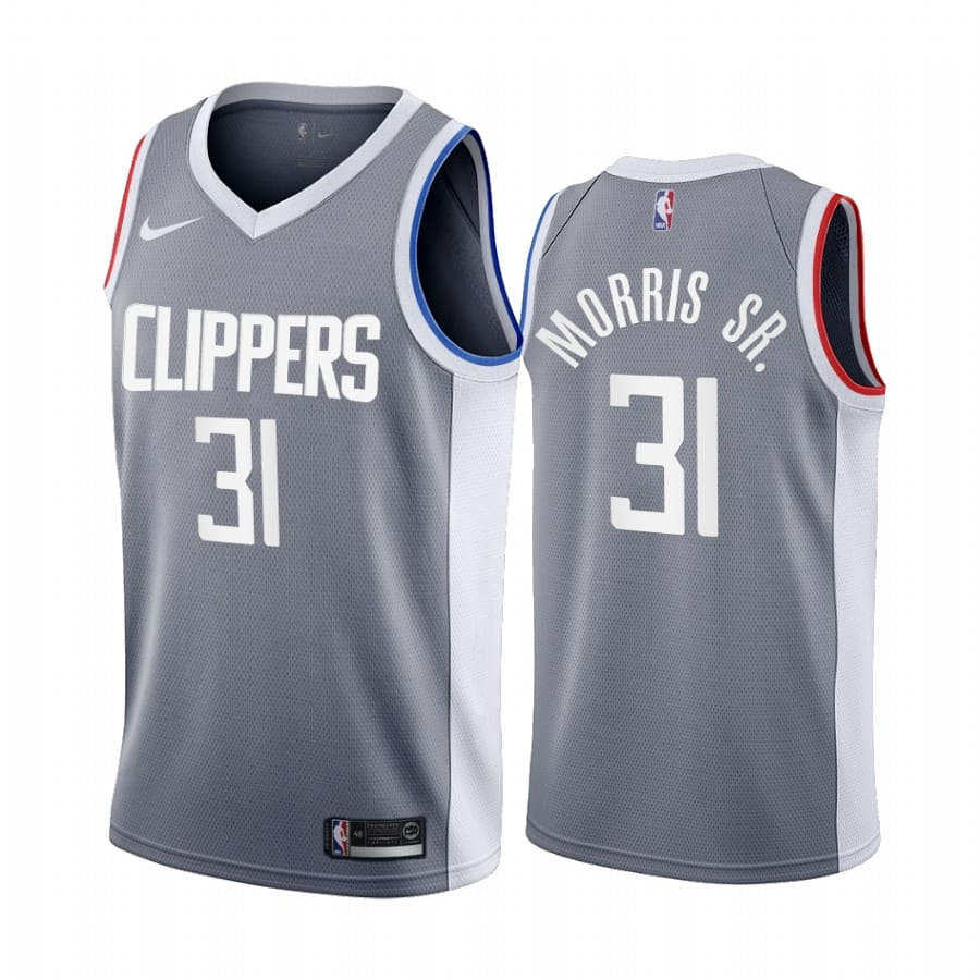 marcus morris sr. clippers 2020 21 earned edition gray jersey
