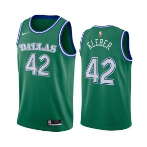maxi kleber mavericks green 2020 classic edition original 1980 jersey 1