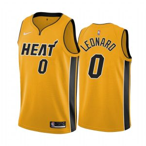 meyers leonard heat 2020 21 earned edition yellow jersey