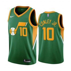 mike conley jr. jazz 2020 21 earned edition green jersey