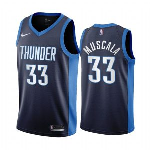 mike muscala thunder 2020 21 earned edition navy jersey