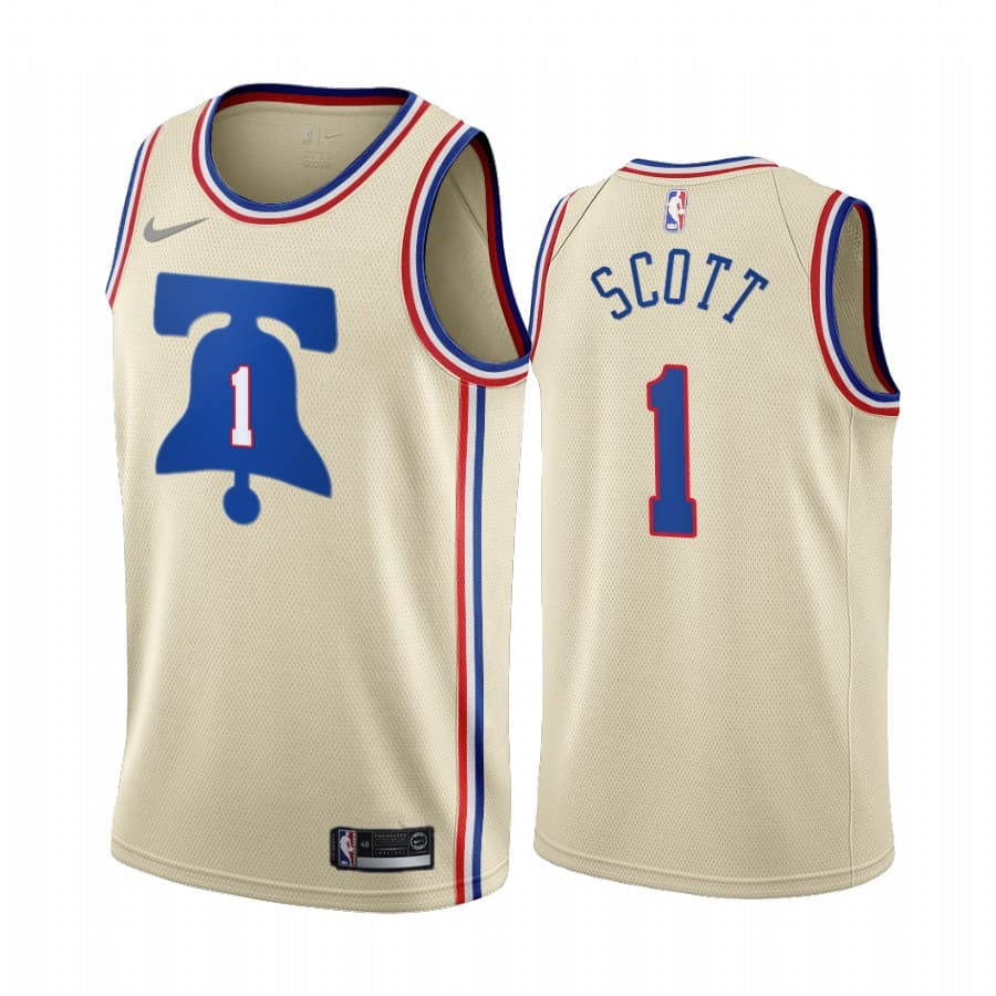 mike scott 76ers 2020 21 earned edition cream jersey