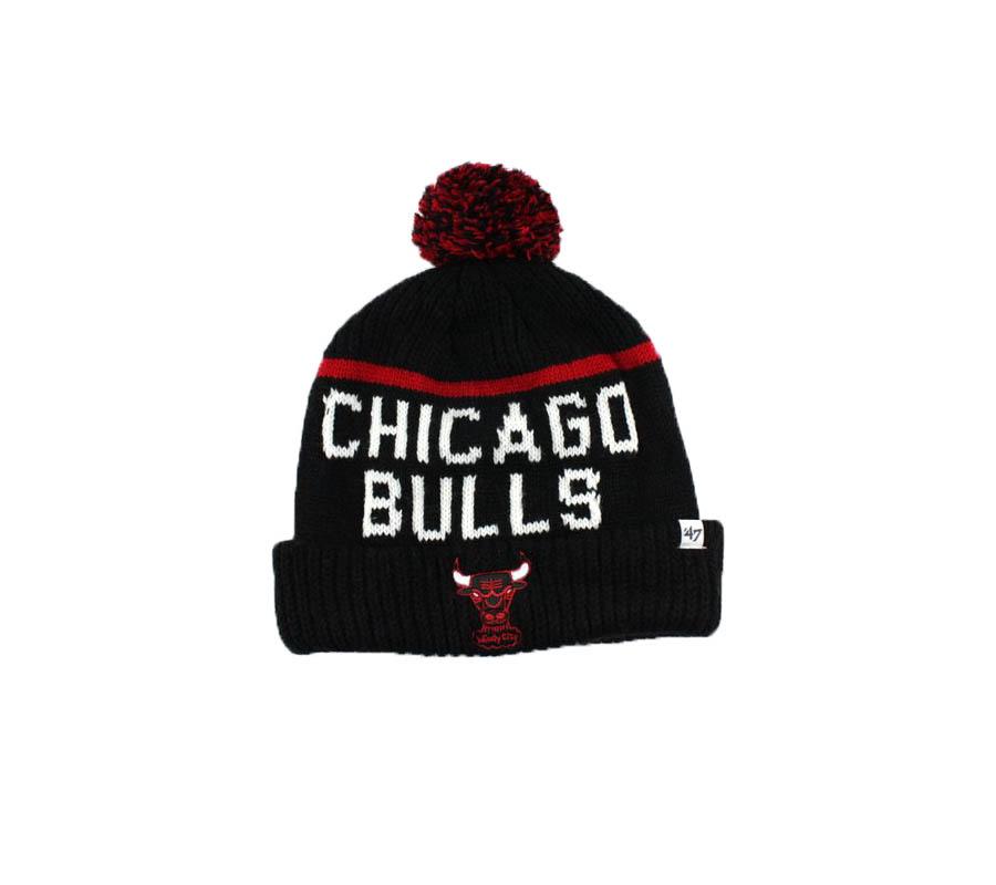 nba hat chicago bulls black red 47brand 2019