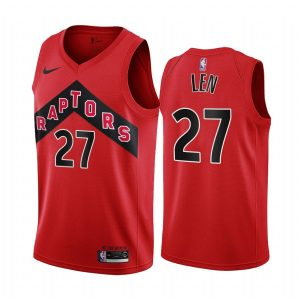 raptors alex len red icon jersey