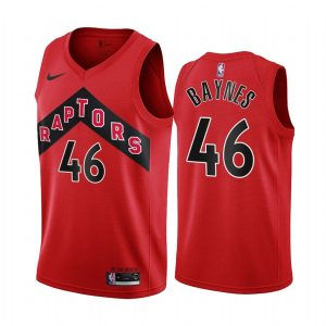 raptors aron baynes red icon 2020 trade jersey