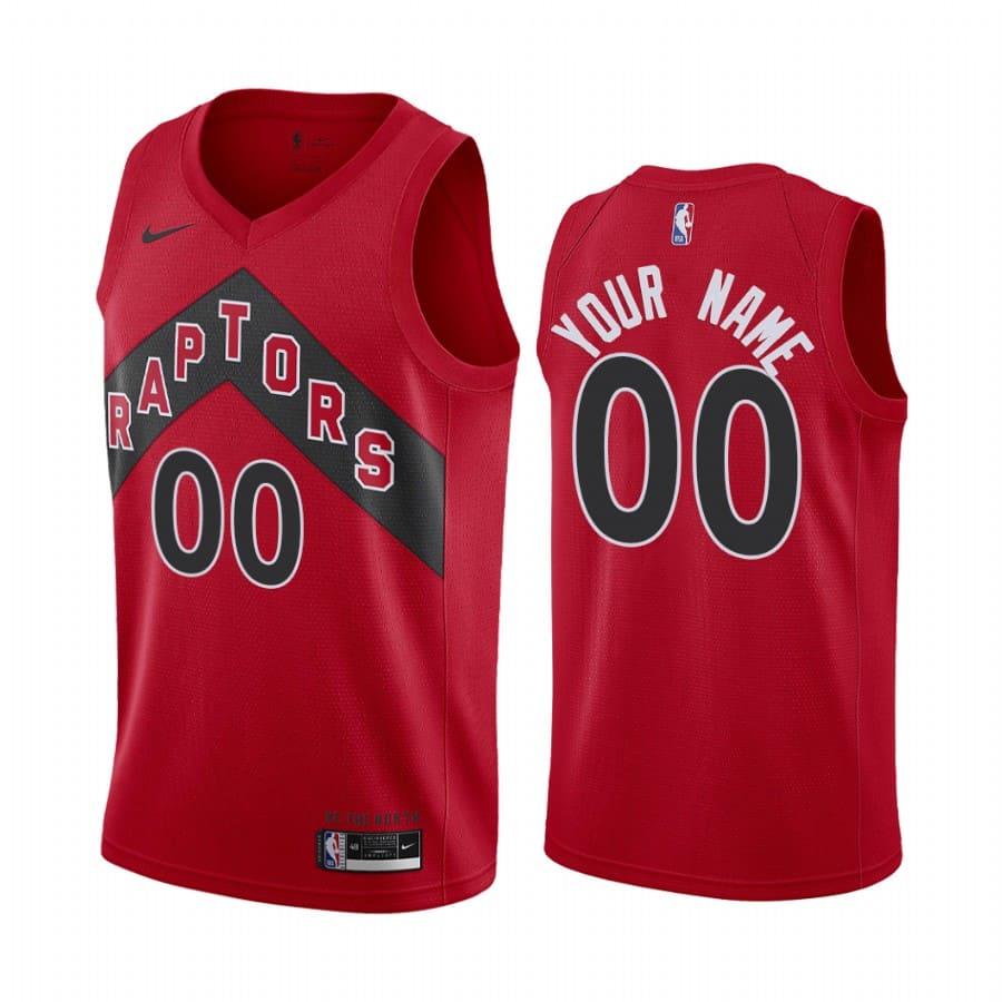 raptors custom red icon edition new uniform jersey