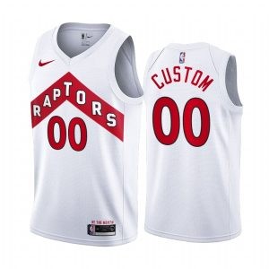 raptors custom white association edition jersey