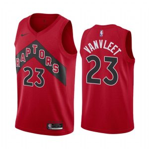 raptors fred vanvleet red icon edition new uniform jersey